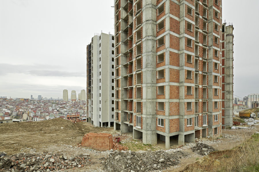 Luca Rotondo fotografo architettura istanbul ascensione turca Tüyap Beylikdüzü cantiere edificio in costruzione