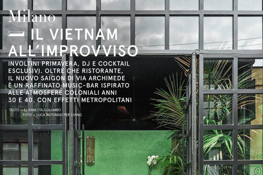 Luca Rotondo per Living tearsheets assignement reportage saigon restaurant