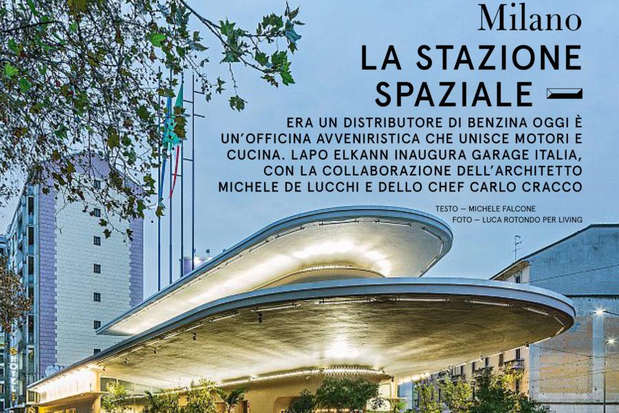 Luca Rotondo per Living tearsheets assignement reportage Garage Italia Lapo De Lucchi Cracco