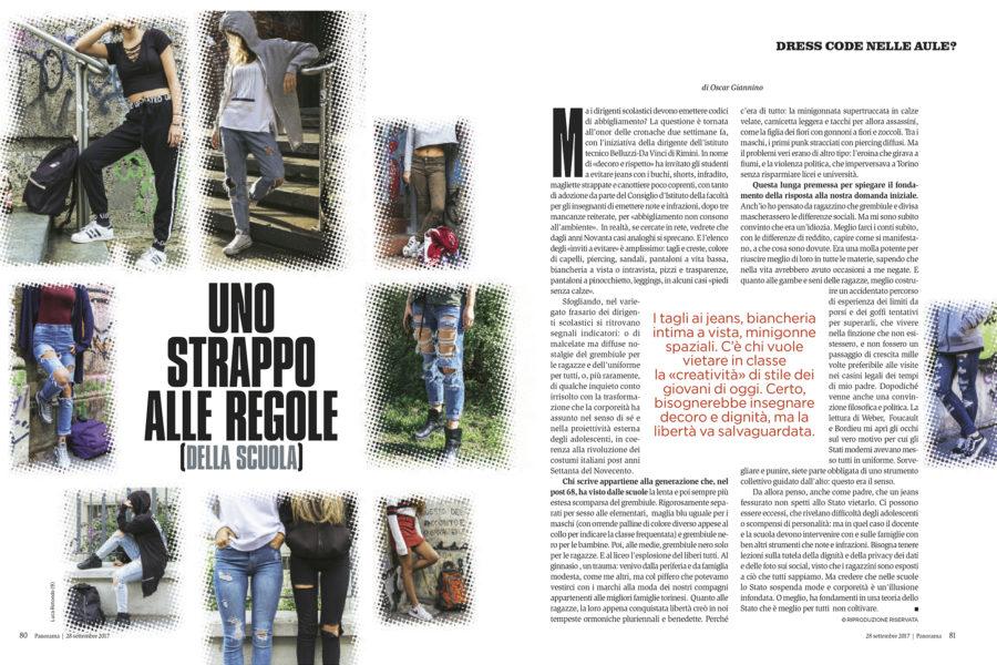 Luca Rotondo fotografo tearsheets Panorama oscar giannino assignement reportage