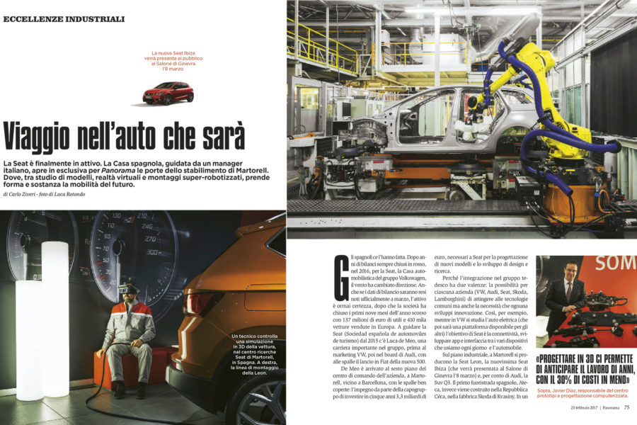 Luca Rotondo tearsheets fotografo Panorama seat barcellona assignement reportage
