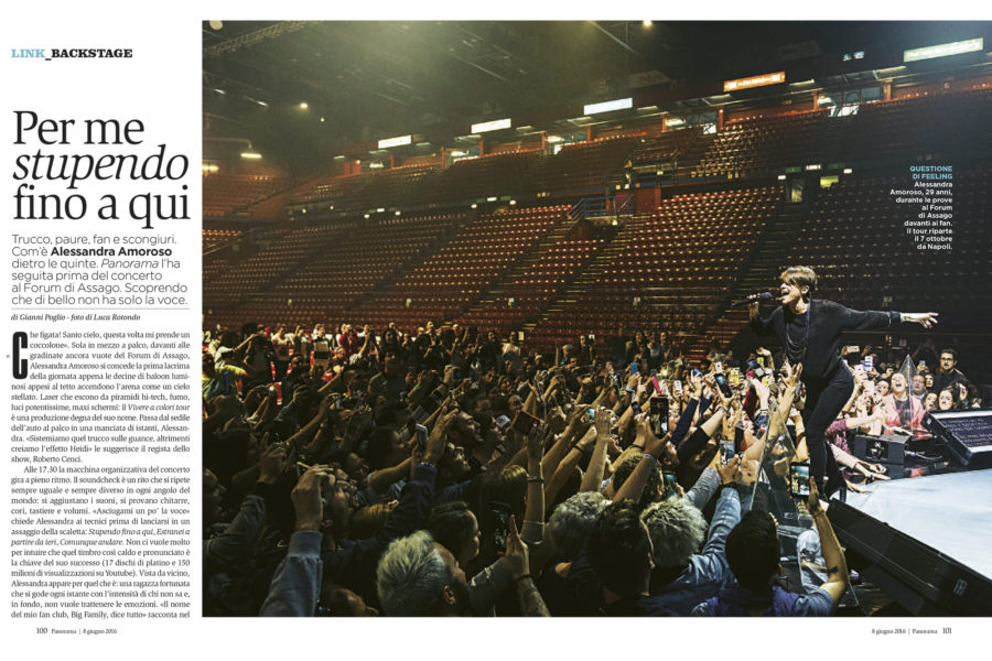 Luca Rotondo fotografo tearsheets alessandra amoroso backstage assignement reportage