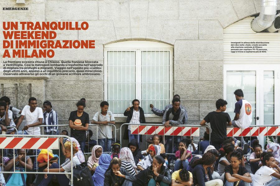 Luca Rotondo tearsheets per Panorama assignement reportage Migranti