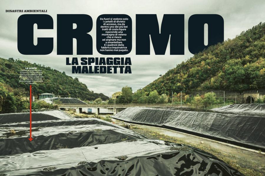 Luca Rotondo tearsheets per Panorama assignement reportage stoppani cogoleto cromo