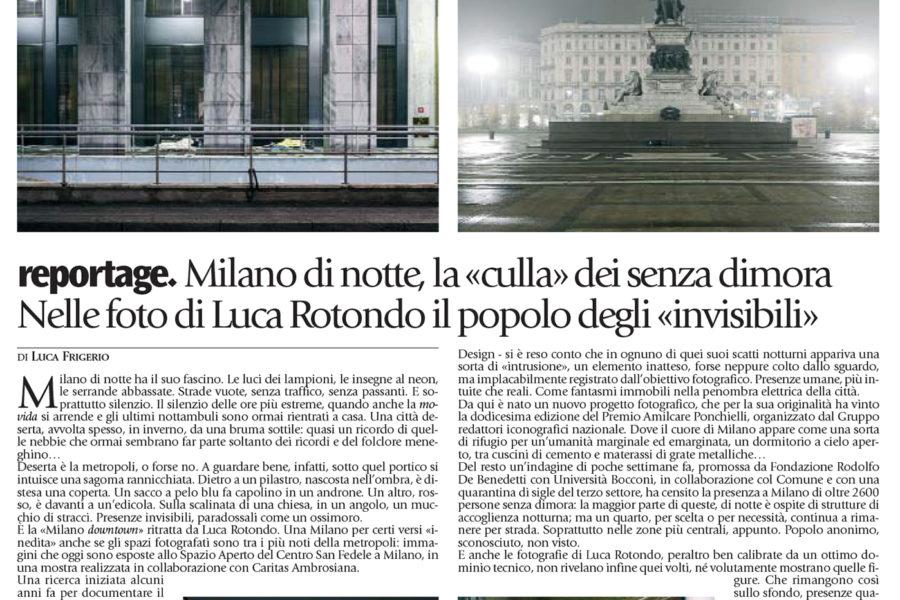 Luca Rotondo fotografo tearsheets avvenire metropolitan lullabies mostra san fedele homeless