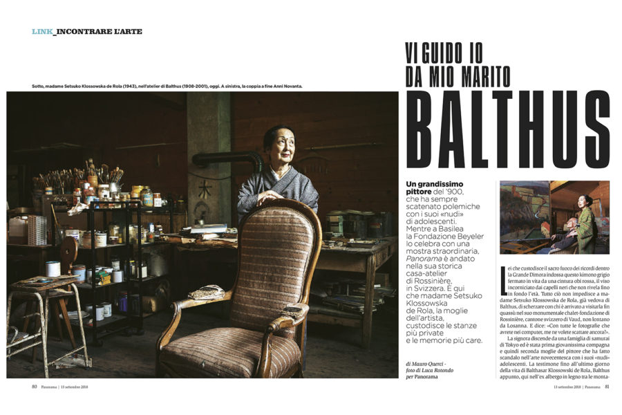 Luca Rotondo fotografo Panorama 39/2018 uca rotondo balthus fondazione beyeler Photographer italy reportage architecture assignement interior portrait ritratti fair design