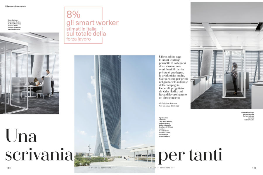 Luca Rotondo fotografo io donna generali smart working hadid tower