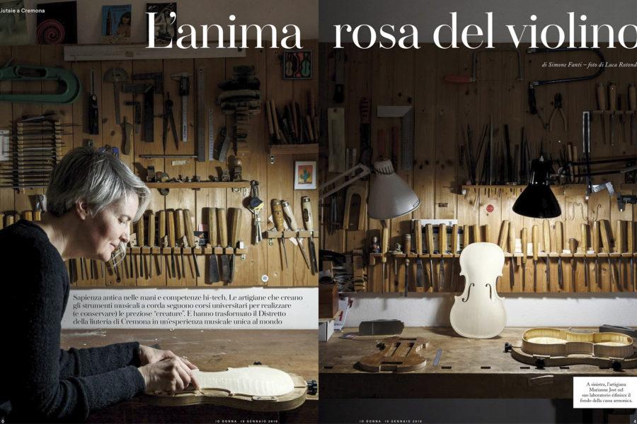 Luca Rotondo_fotografo_io donna_lcorriere della sera_cremona_liuteria_liutai_Photographer_italy_reportage_reporter_assignement