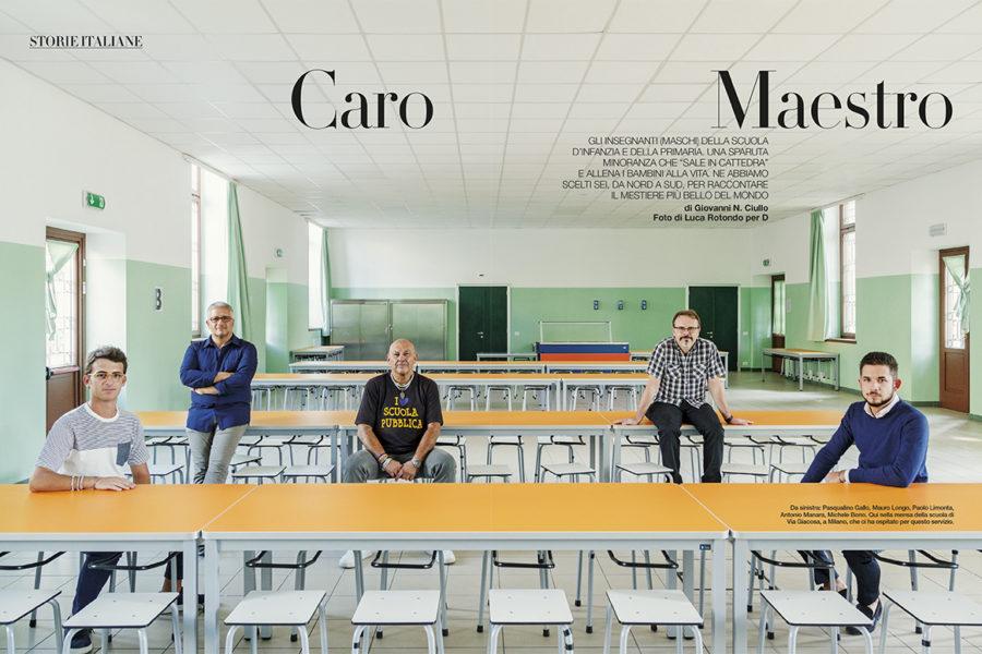 Luca Rotondo_fotografo_D la repubblica_lespresso_caro maestro_scuola _Photographer_italy_assignement